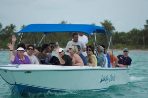 We use water taxis to get around in Ambergris Caye Belize