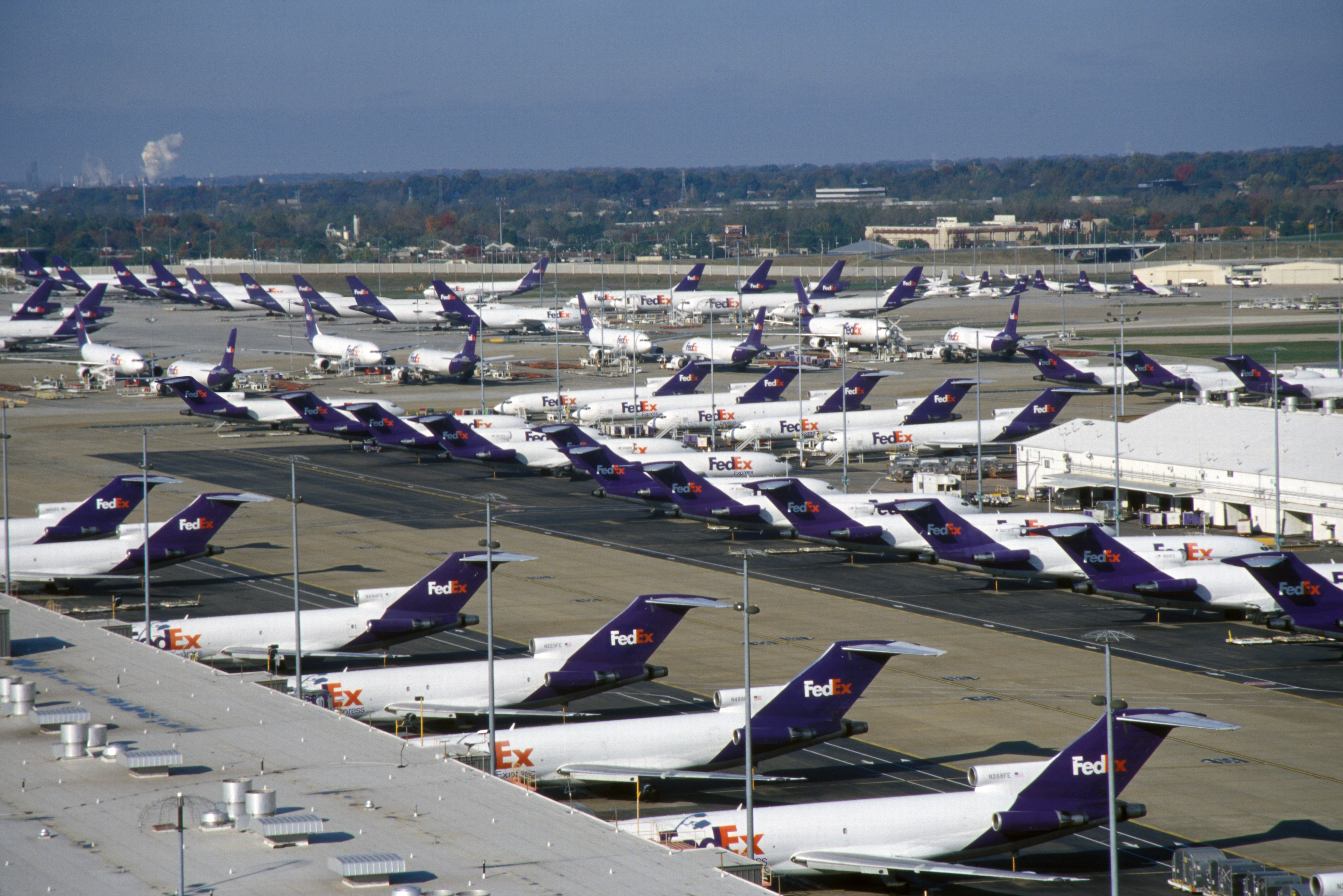 you may want to fly fed ex into memphis they have more planes there